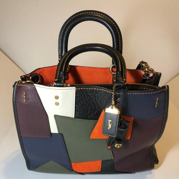 aba06ec0f4 Coach Handbags - NWOT 1941 Rogue Patchwork Coach Handbag Multicolor